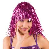 Lametta-Perücke-pink