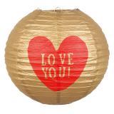 "Lampion ""Love You"" 25 cm"