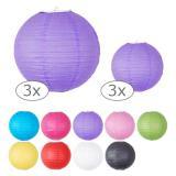 Einfarbige Lampions 3er Pack