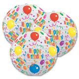 "Lampions ""Happy Birthday"" 24 cm 3er-Pack"