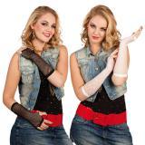 Lange fingerlose Netz-Handschuhe