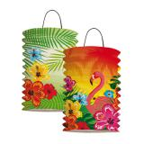 "Laterne ""Aloha und Flamingo"" 2er Pack"