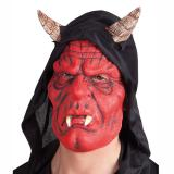 "Latex Maske ""Teufel"" mit Kapuze"