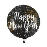LED-Folienballon Happy New Year 65 cm