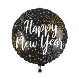 LED-Folienballon Happy New Year 65 cm