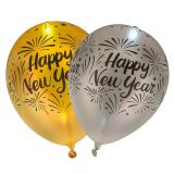 LED-Ballons Happy New Year 4er Pack