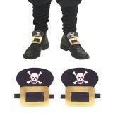 """Lederlook-Schuhschnallen """"Pirat"""""""