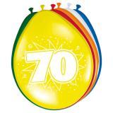 Bunte Luftballons mit Zahlen 8er Pack-70