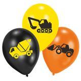 """Luftballons """"Bauarbeiten"""" 6er Pack"""