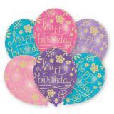 "Luftballons ""Blumiger Geburtstag"" 6er Pack"