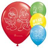 """Luftballons """"Die Welt der Schlümpfe"""" 8er Pack"""