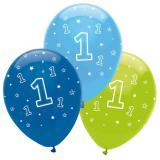 "Luftballons ""Dschungel Boys 1. Geburtstag"" 6er Pack"