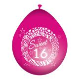 "Luftballons ""Girly Sweet Sixteen"" 8er Pack"