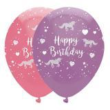 """Luftballons """"Kleines Geburtstags Einhorn"""" 6er Pack"""