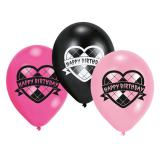"Luftballons ""Lovely Happy Birthday Girl"" 6er Pack"