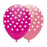 "Luftballons ""Pünktchen-Muster"" Pink & Rosa 6er Pack"