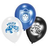 """Luftballons """"Rasante Polizei Verfolgungsjagd"""" 6er Pack"""