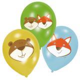 """Luftballons """"Tierische Freunde"""" 6er Pack"""
