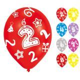 """Bunte Luftballons """"Zahlenkerze"""" 6er Pack"""