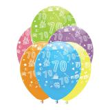 "Luftballons ""Bunte Geburtstagsparty"" 6er Pack-70"