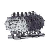 Luftrüssel Happy New Year 6er Pack-silber