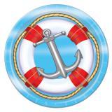 "Maritime Pappteller ""Anker und Rettungsring"" 8er Pack"