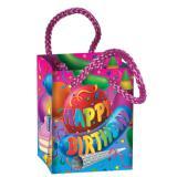 """Mini-Geschenktütchen """"Happy Birthday"""" 8 cm 4er Pack"""