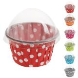 "Mini Muffin-Förmchen ""Polka Dots"" 6er Pack 3 cm"