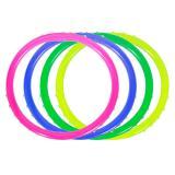 Neonfarbene Armbänder mit Schmucksteinen 4-tlg.