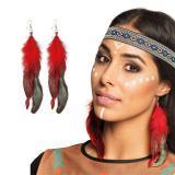 "Ohrringe ""Schöne Indianer Squaw"""