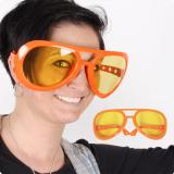 "Orange XXL-Brille ""50s Party-Pimp"""