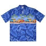 Original Hawaiihemd Blue Beach Trip
