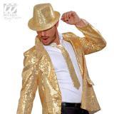 Pailletten-Krawatte-gold