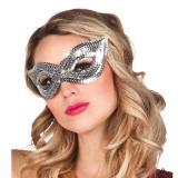 Paillettenbesetzte Augenmaske -silber