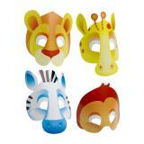 """Papp-Masken """"Auf in die Wildnis"""" 8er Pack"""