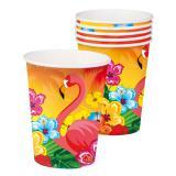 """Pappbecher """"Aloha und Flamingo"""" 6er Pack"""