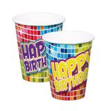 "Pappbecher ""Happy Crazy Birthday"" 6er Pack"