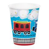"Pappbecher ""Kunterbunte Eisenbahn"" 8er Pack"