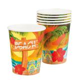 """Pappbecher """"Strandparty"""" 6er Pack"""