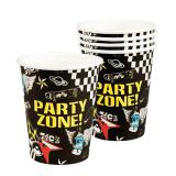 """Pappbecher """"Party-Zone"""" 6er Pack"""