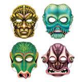 """Pappmasken """"Aliens"""" 4er Pack"""