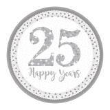 "Pappteller ""25 Happy Years"" 8er Pack"