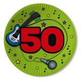 "Pappteller ""50. Geburtstag"" 10er Pack"