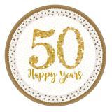 "Pappteller ""50 Happy Years"" 8er Pack"
