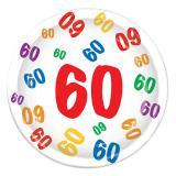 """Pappteller 60. Geburtstag """"Zahlenexplosion"""" 8er Pack"""