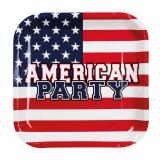 "Pappteller ""American Party"" 6er Pack"