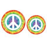 """Pappteller """"Batik und Peace"""" 8er Pack"""