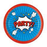 """Pappteller """"Boom-Party"""" 23 cm 8er Pack"""