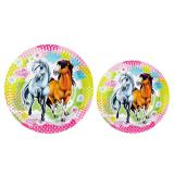 "Pappteller ""Charming Horses"" 8er Pack"