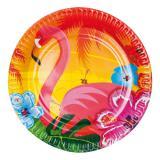 "Pappteller ""Aloha und Flamingo"" 6er Pack"